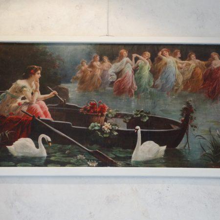 art nouveau schilderij