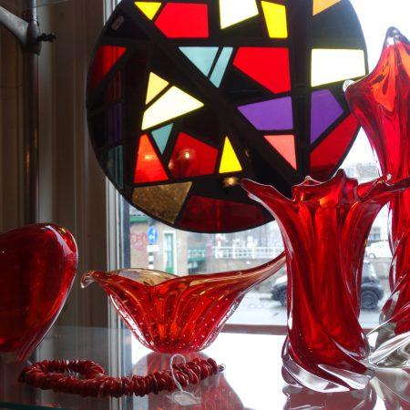 gekleurd glas in lood