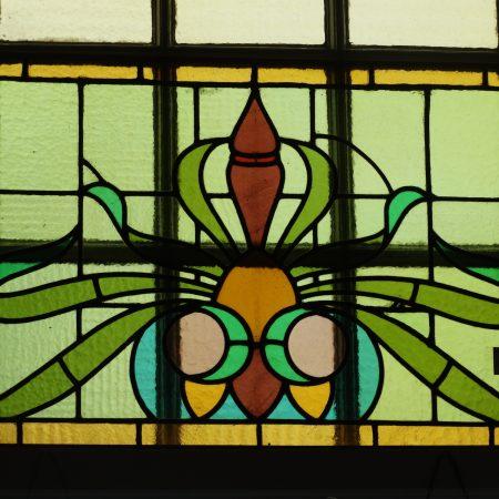 glas in lood groen
