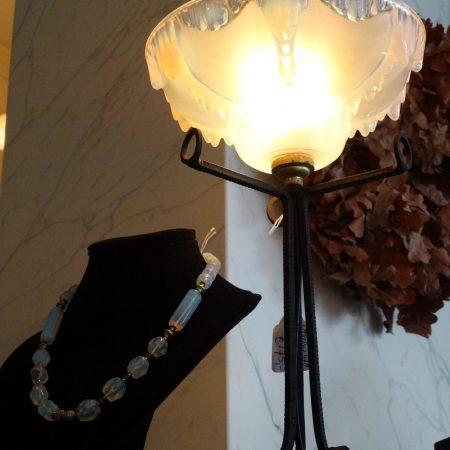 opaline staande lamp