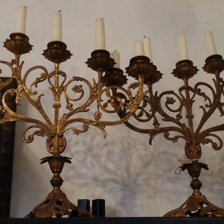 bronzen kandelaars