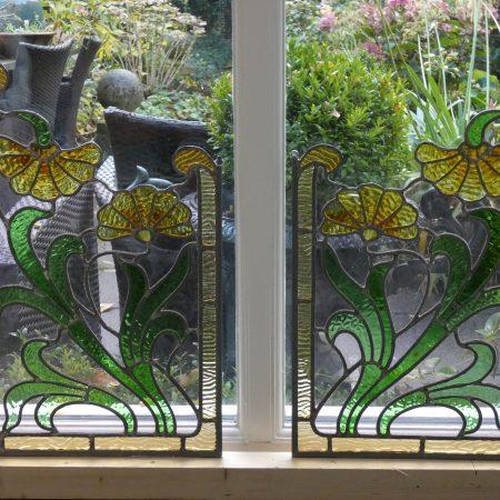 Art Nouveau glas is lood